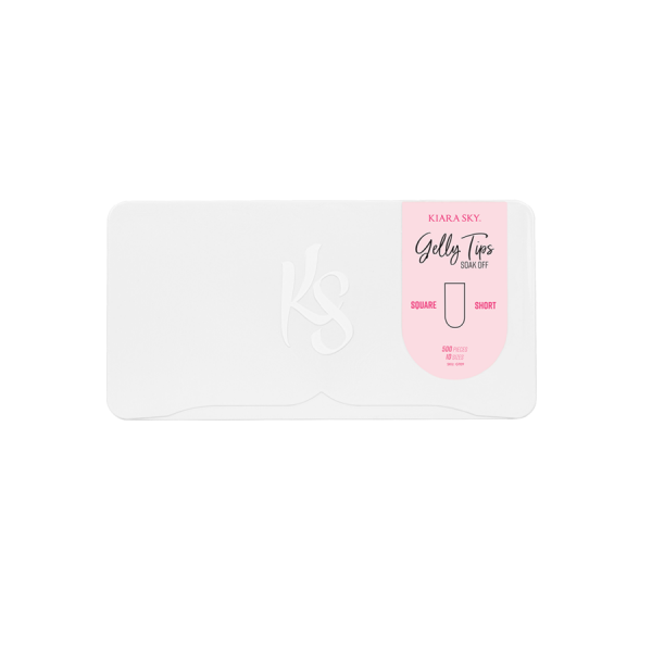 Kiara Sky® Square Short Nageltips   Vorgeformte Gelnägel   500 Stück je Box