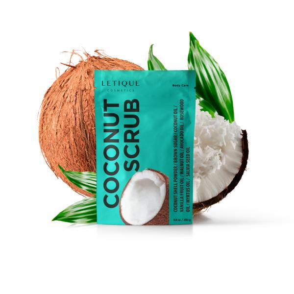 Letique Cosmetics® Coconut Scrub Körperpeeling | mit Kokos & Avocado | nährendes Peeling