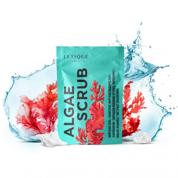 Letique Cosmetics® Algae Scrub Körperpeeling | mit Meersalz & Seetang | Detoxing Peeling