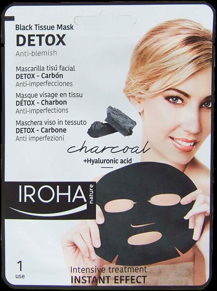 DETOX Maske mit Aktivkohle und Hyaluron