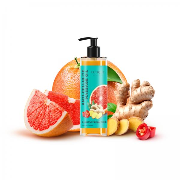 Letique Cosmetics® Body Wrapping Pflegeöl   Anti-Cellulite Öl mit Grapefruit, Ginger & Chilli