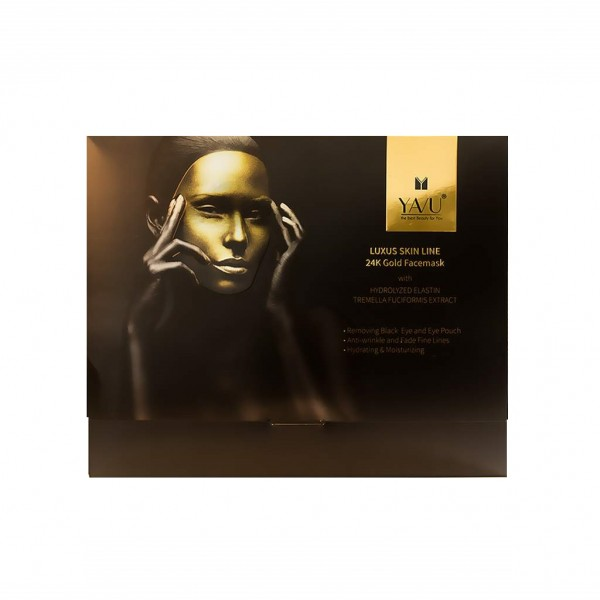 YAVU® Goldmaske Luxus Skin Line 24K (5 Stk.)