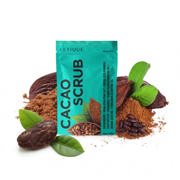 Letique Cosmetics® Cacao Scrub Körperpeeling | Kakao & Koffein | Peeling mit Anti-Cellulite-Effe