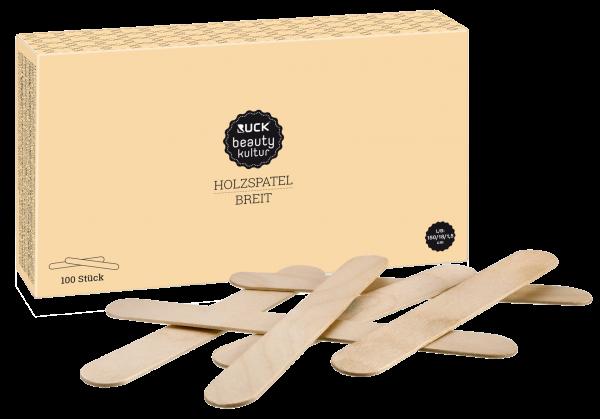 RUCK® beautykultur Waxing Holzspatel | 100 Stück | breite Ausführung für größere Flächen