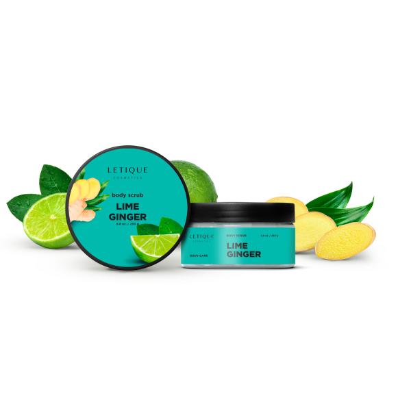 Letique Cosmetics® Ginger Lime Scrub Körperpeeling | hautstraffend & glättend | gegen Cellulite