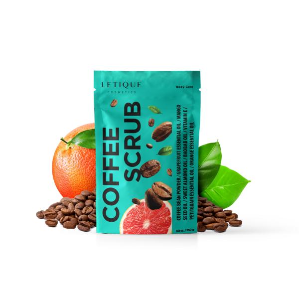 Letique Cosmetics® Coffee Scrub Körperpeeling   mit Kaffee & Pistazie   stimulierendes Peeling