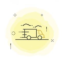 Schnelle Lieferung mit DHL